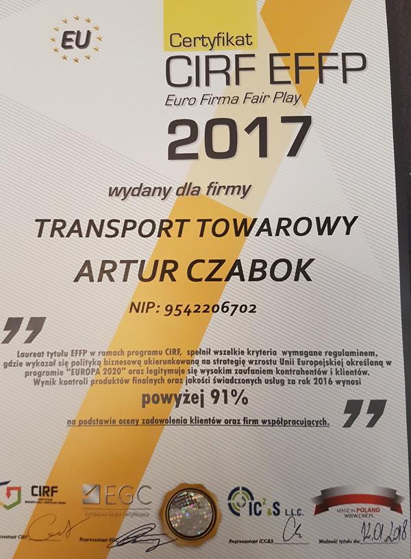 koparka katowice certyfikat 2