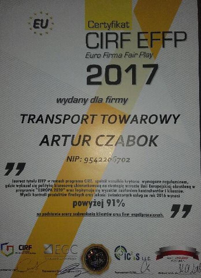 koparka katowice certyfikat 1