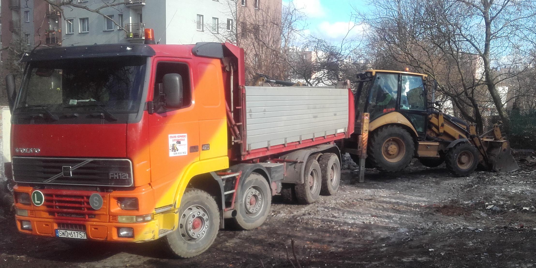usługi koparko-ładowarką firma a. czabok katowice
